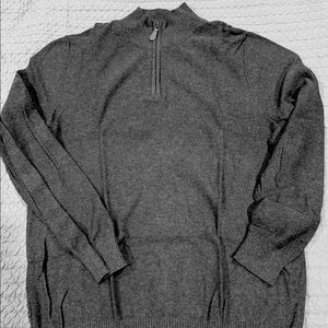 Men's Zipper mock neck sweater
